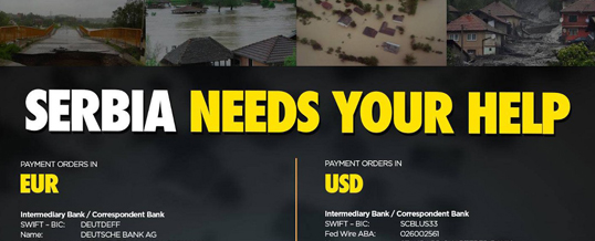 Help for victims of floods in Serbia