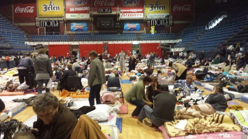 floods in Serbia save center